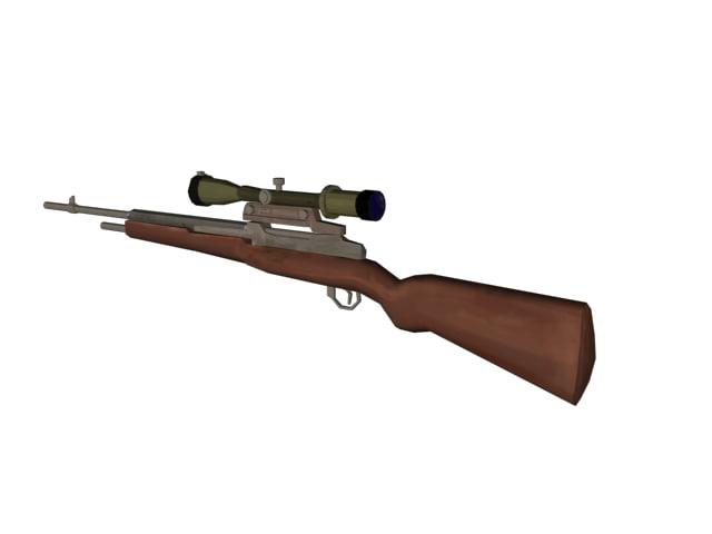 3d 3ds sniper rifle