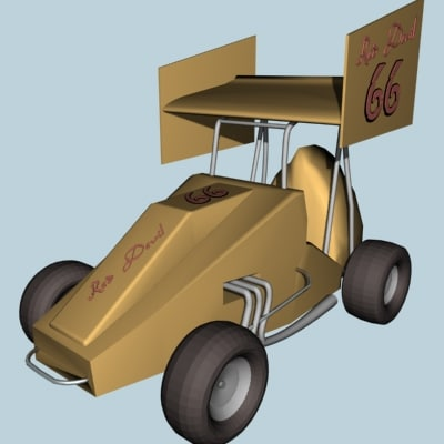 3d speedway sprint car model