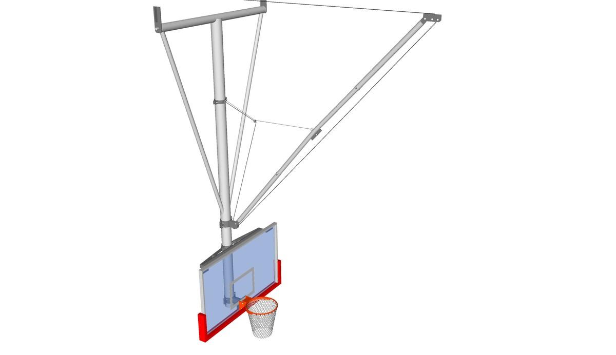 3d basketball backstop model