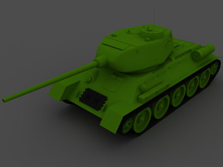 3d model tank t-34-85