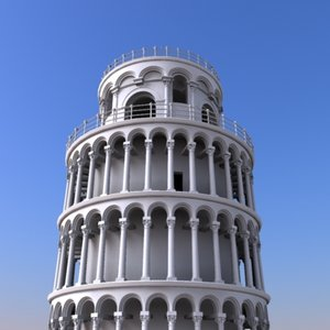 3d model pisa tower