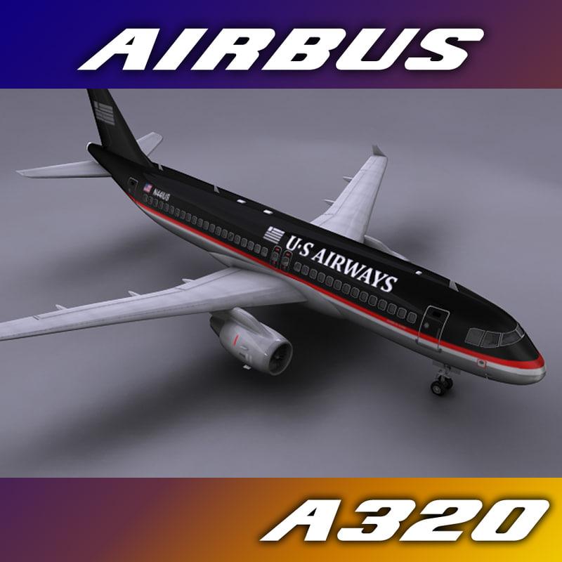 3ds max airbus a320 airways aircraft