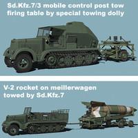 Sd.Kfz.7/V-2 combo