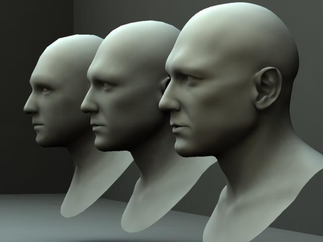male head bust 3d model