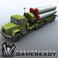 3d model russian s-300pmu sa-10 grumble