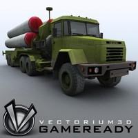 russian s-300pmu sa-10 grumble 3d max