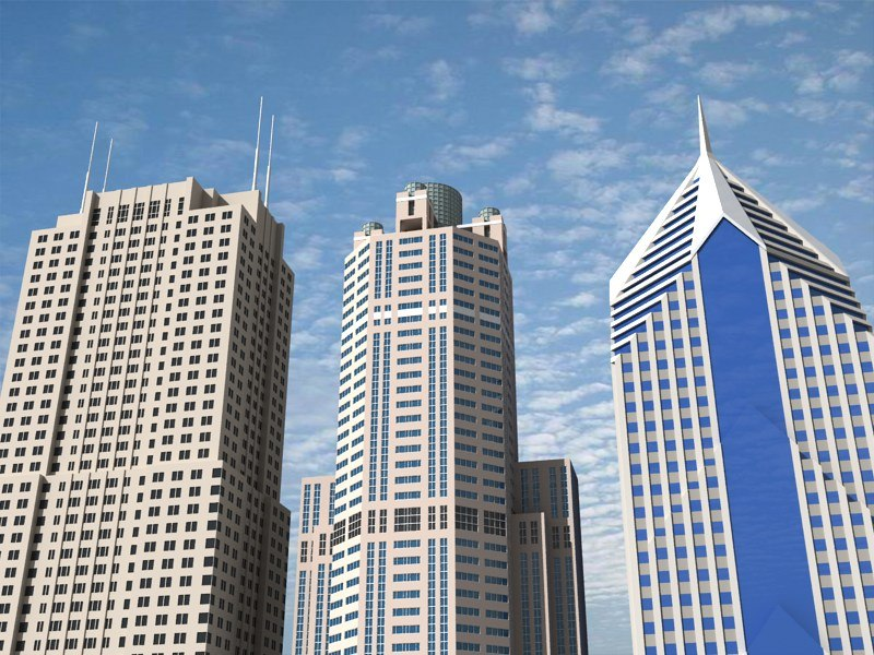 3 chicago skyscrapers b 3d max