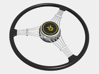 banjo steering wheel 3d model