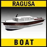 wooden boat 3d max