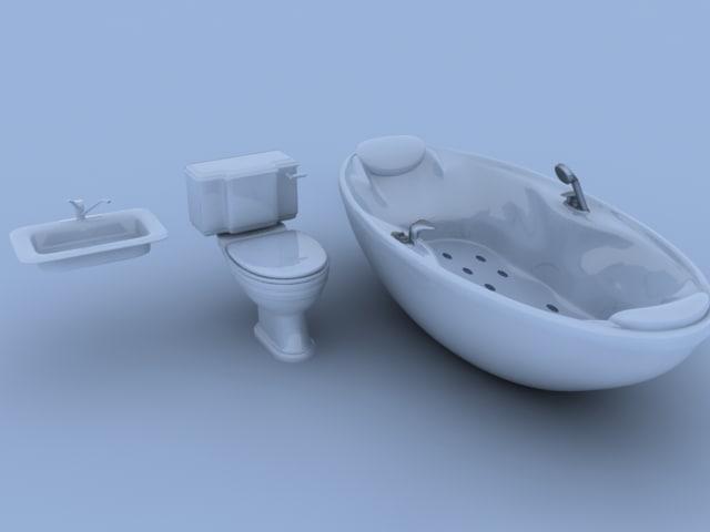 bathroom 54820 faces 3d model
