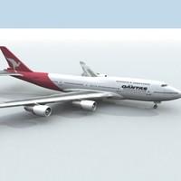 3d 747-400 qantas