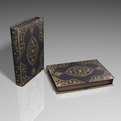 3d torah book model