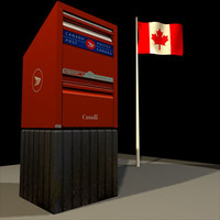3d model canada mail box 01