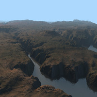 3d canyon environment background