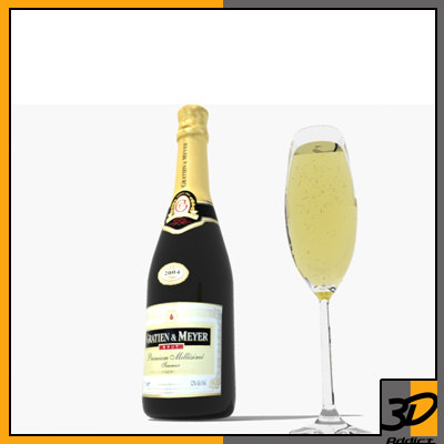 maya glass bottle champagne bubbles
