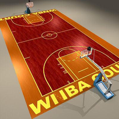 3d model women basketball court ball for How to build your own basketball court