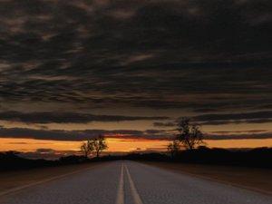 dirt road sunset ma
