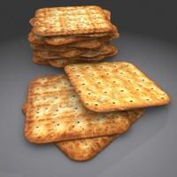 3d dry biscuit model