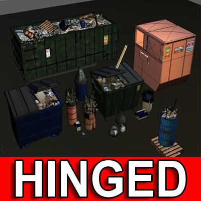 3d dumpster trash 01 dump
