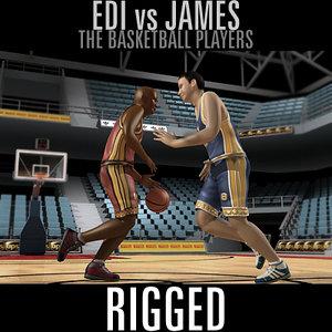 3dsmax basketball players edi james