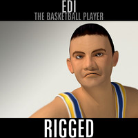 3d model basketball player edi