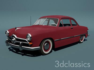 1949 custom club coupe 3d model