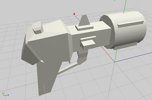 3d futuristic pistol