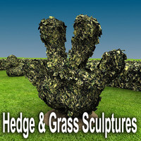Hedges and Grass Sculptures for Landscape / Garden