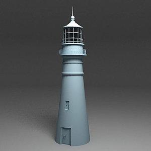 3d lighthouse light house model