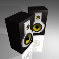 3d monitor speakers model