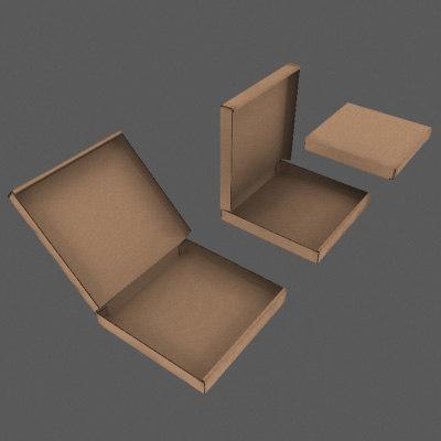 pizza boxes 3d max