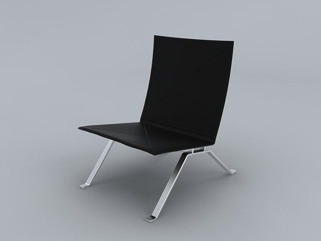 poul kjaerholm chair pk 3d model