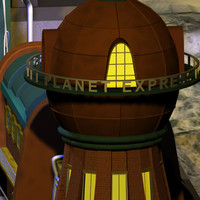 planet express 01 future city 3d model