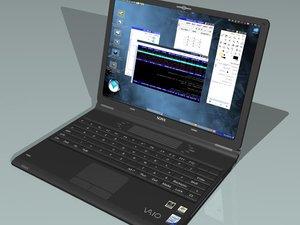 3d model sony vaio laptop