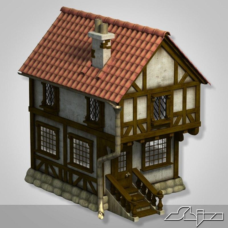 house buildings 3d max