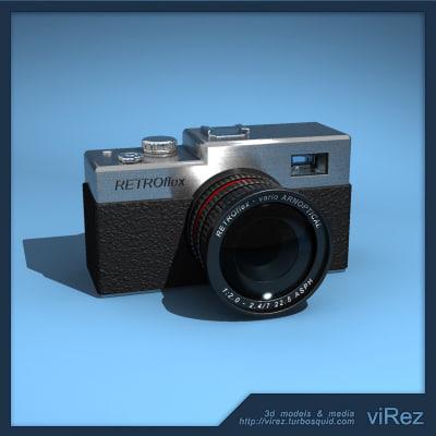 3d retro camera