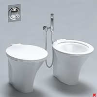 toilet bidet 3d model