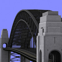 3d max sydney harbour bridge