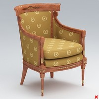 sofa old fashioned 3d 3ds