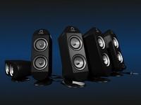 3d model of speakers