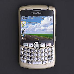 3d smartphone blackberry curve