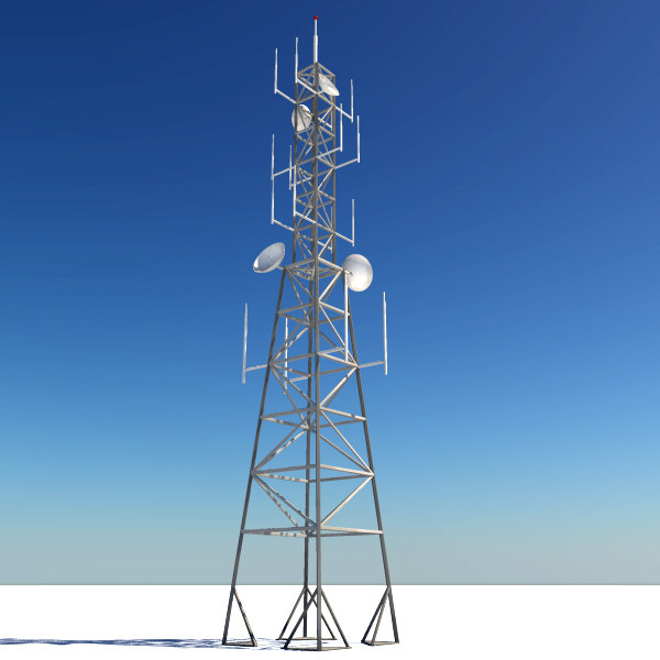 3d radio tower