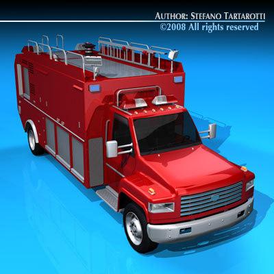 firetruck truck obj