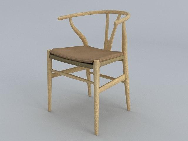 3d design wegner y chair. Black Bedroom Furniture Sets. Home Design Ideas