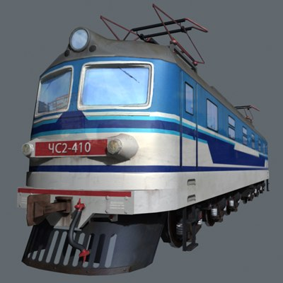 3d low-poly train model