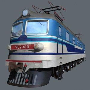 3d low-poly train model