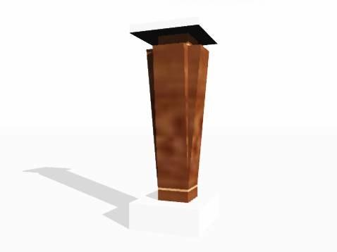 3d model wood column