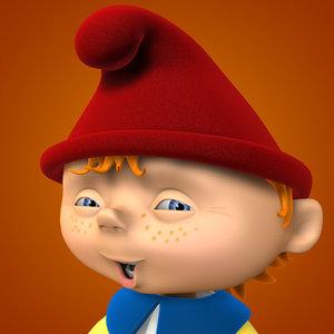 3d cartoon gnome model