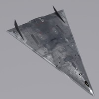 3d hypersonic aurora spyplane model