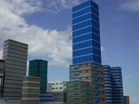 city block modern 3d model